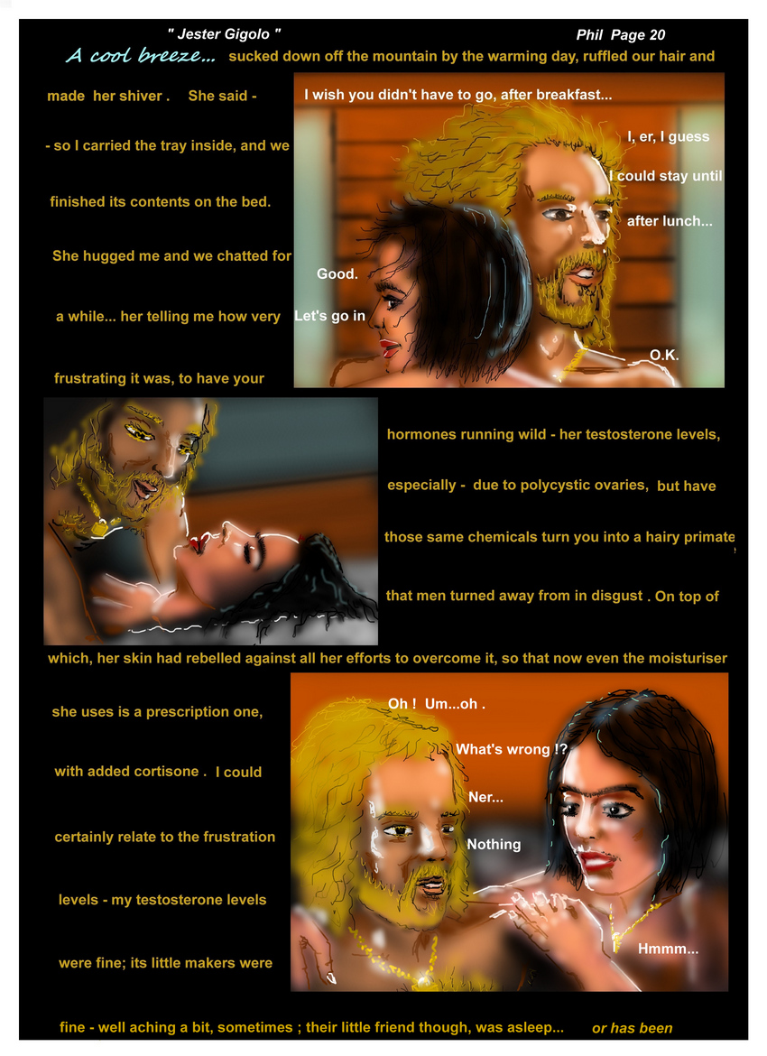 Jester Gigolo Page 20  hormones...to a hairy primate